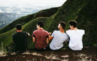 4 guys laughing